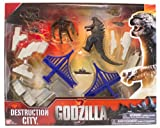 Godzilla Movie Destruction City with Godzilla and MUTO (8 Legged) Figures, plus 3 Destructible Buildings and 5 Military Vehicles