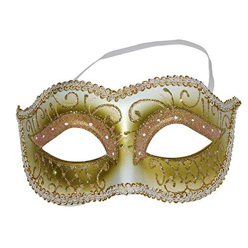 Aoutacc Women's Venetian Masquerade Mask Mardi Gras Mask for Masquerade Ball