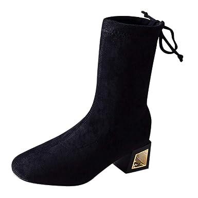 bc761ff0a0d DENER❤ Women Ladies Mid Calf Boots