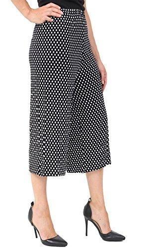 Fashion Plus - Pantaloncini - Donna Black Polka Dot Print