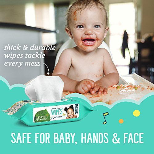 Large Product Image of Seventh Generation Baby Wipes, Free & Clear with Flip Top Dispenser, 768 count