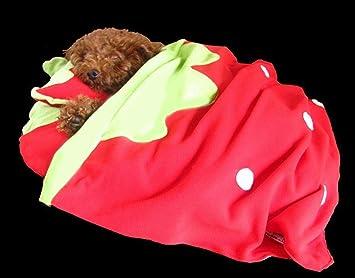 635 Cama para Perros Coral de Terciopelo Tejido Fresa otoño e Invierno para la Cama del