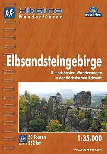hikeline-wanderfhrer-elbsandsteingebirge-die-schnsten-wanderungen-in-der-schsischen-schweiz-1-35-000-wasserfest-und-reissfest-gps-tracks-zum-download