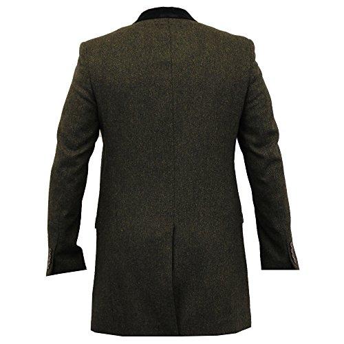 Spina Oliva Di Giacche Pesce Misto Fit Slim A Lungo Kingstonlon Quadretti Lana Verde Tweed Uomo Cavani Trench Cappotto q4g7gaw