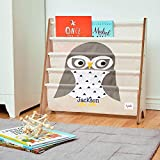 CUSTOM EMBROIDERED MONOGRAMMED PERSONALIZED 3 Sprouts Book Rack – Owl