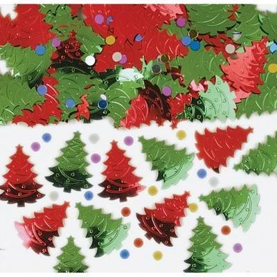 Amscan Christmas Tree Embossed Metallic Mix 14g