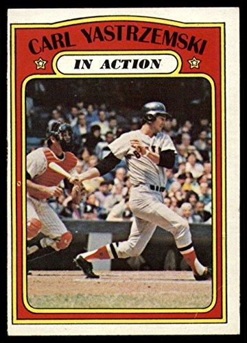 1972 Topps # 38 In Action Carl Yastrzemski Boston Red Sox (Baseball Card) Dean's Cards 3 - VG
