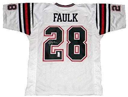 check out 1a540 03d35 Signed Marshall Faulk Jersey - #28 White - JSA Certified ...
