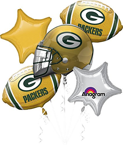 Anagram Bouquet Packers Foil Balloons, Multicolor ()