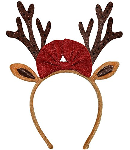 Christmas Reindeer Antlers Headband Adult Kids Girls Boys – One Size fits Most -