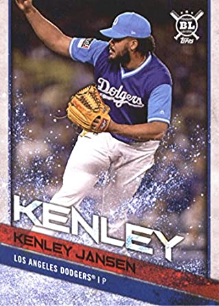 2018 Topps Big League Players Weekend Image Variations  256 Kenley Jansen  Los Angeles Dodgers Baseball ffe9c7d3bee