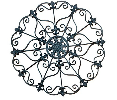 Iron Wall Medallion - Authentic Wall Decor (Antique Metal Home Decor)