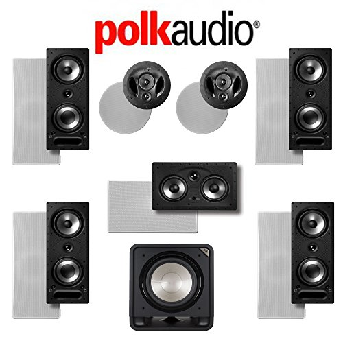 Polk Audio 265-RT 7.1 Vanishing Series In-Wall / In-Ceiling Home Theater System (265-RT + 90-RT + 255C-RT + HTS12)