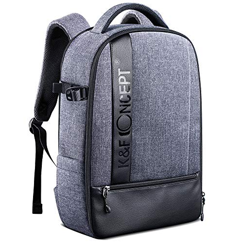 K&F Concept Camera Backpack Professional Large Capacity Waterproof Photography Bag for DSLR Cameras