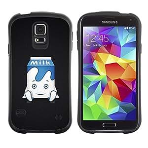 Suave TPU GEL Carcasa Funda Silicona Blando Estuche Caso de protección (para) Samsung Galaxy S5 / CECELL Phone case / / Funny Cute Milk /