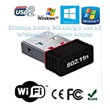 Terabyte Mini 2.4Ghz Wireless Wifi Dongle 500Mbps 802.11n USB Connector