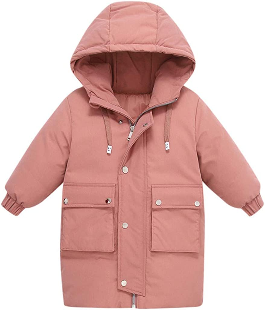 jieGorge Baby Clothes Kids Children Baby Winter Solid Warm Girls Boys Hooded Jackets Outerwear Coats Buy Now