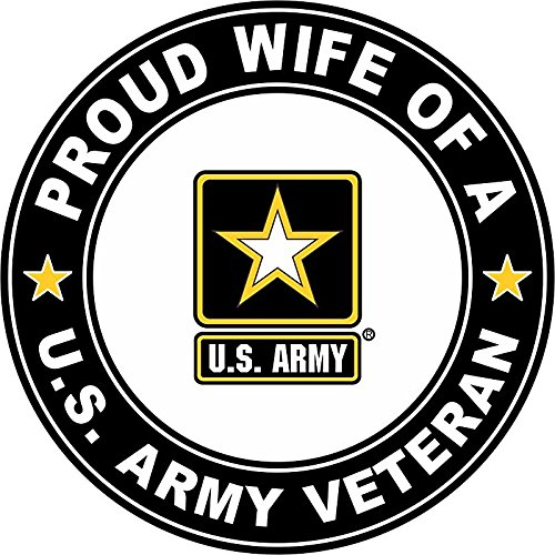 US Army Veteran Proud Wife 5.5 Inch Decal ()