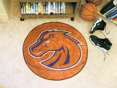 Fanmats Basketball Area Rug w Official Boise State Broncos Logo