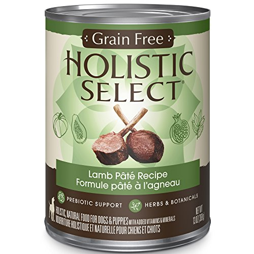 Holistic Select Natural Wet Grain Free Canned Dog Food, Lamb, 13-Ounce Can (Pack of 12)