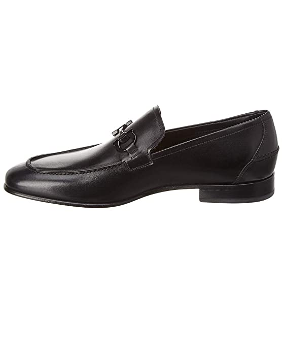 Amazon.com: Salvatore Ferragamo Davis Leather Loafer, 7 Eee, Black: Shoes