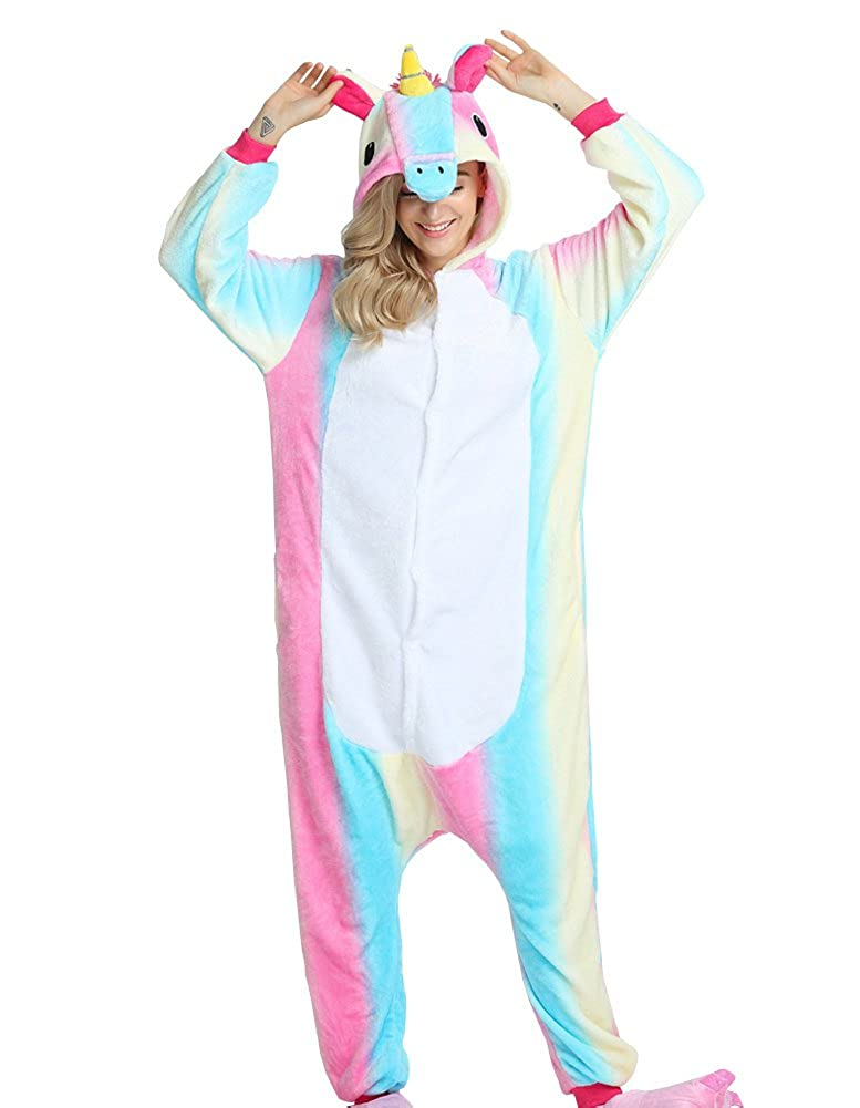 Cliont Animal Licorne Pyjamas Sleepwear Nightclothes Costume Anime Cosplay Christmas Unicorn Onesie