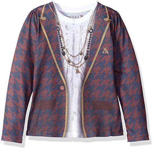 SIERRA JULIAN Little Girls' Nelia Long Sleeve Tee Shirt, ...