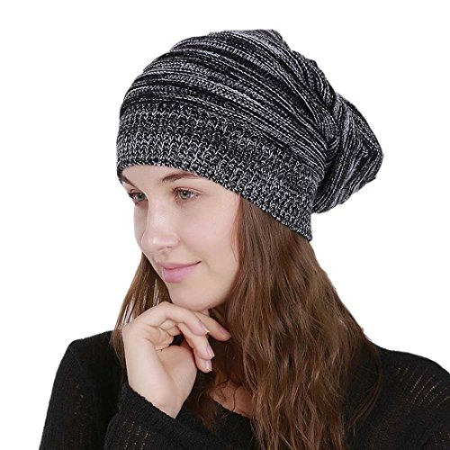 di Filo Acvip Knitted Pleated lana Hat Hat Woman Hook nero xrq0wY46q
