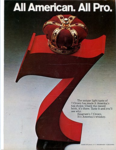Seagram's 7 Crown Whiskey Vintage Magazine Ad-