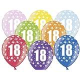 """SiDeSo® 10 Luftballons 12"""" Party Geburtstag Jahrestag (Zahl 18)"""