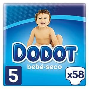 Dodot Bebé-Seco Pañales Talla 5, con Canales de Aire, 11-16 kg, 58 Pañales