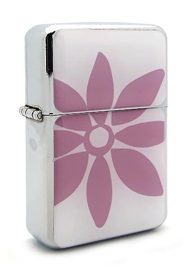 Amazon Cute Pink Flower Flip Top Refillable Aluminum Pocket Oil