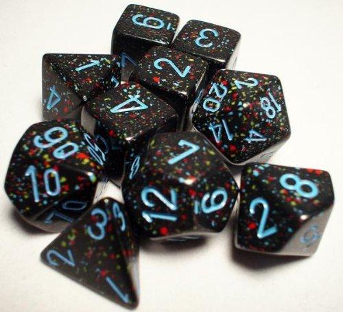 最適な材料 ダイス 10個セット/サイコロ 斑 斑 Polyhedral(多面体) Blue Blue Stars 10個セット B001S6ZYE2, ボディーガード:d0147bfe --- cliente.opweb0005.servidorwebfacil.com