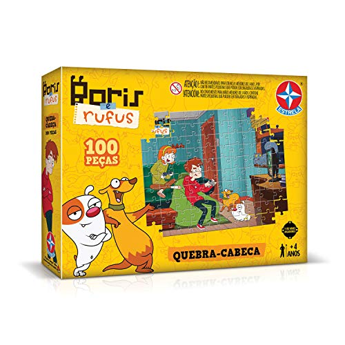 Quebra-cabeça 100 Peças Bóris E Rufus Brinquedos Estrela Multicores