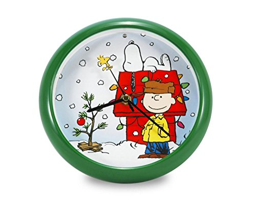 8 Battery Operated Musical Peanuts Holiday Snoopy Dog House Christmas Carol Wall Clock