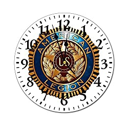ZhangYuShi The American Legion Wall Clock Silent Non Ticking Home Decor Wall Clock Battery Operated