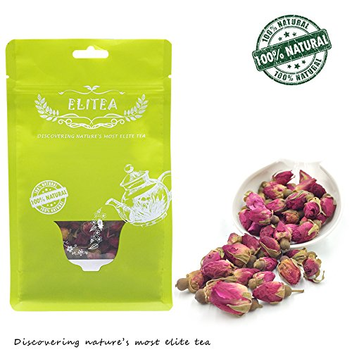 ELITEA 5.3oz Dried Rose Buds Rosebud Flower Herb Loose Leaf Tea 150g 100% Fragrant Natural Healthy Herbal Tea