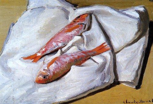 - Claude Oscar Monet Still Life: Red Mullets - 18.05