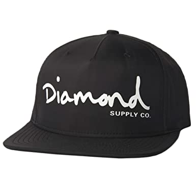 huge discount 31e5c 3f25c Image Unavailable. Image not available for. Color  Diamond Supply Co. Men s OG  Script Snapback Hat Black