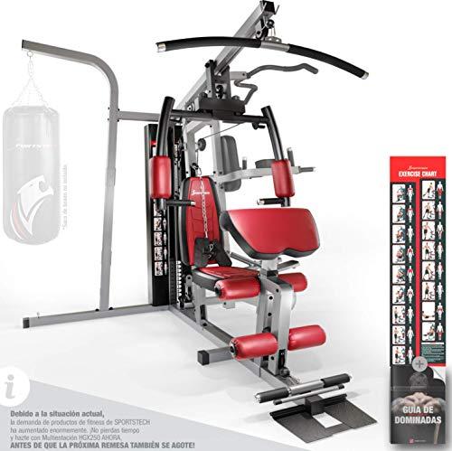 Sportstech 50en1 Premium Multiestación para Entrenamiento Completo | Gimnasio Multifuncional con Stepper y Torre de…