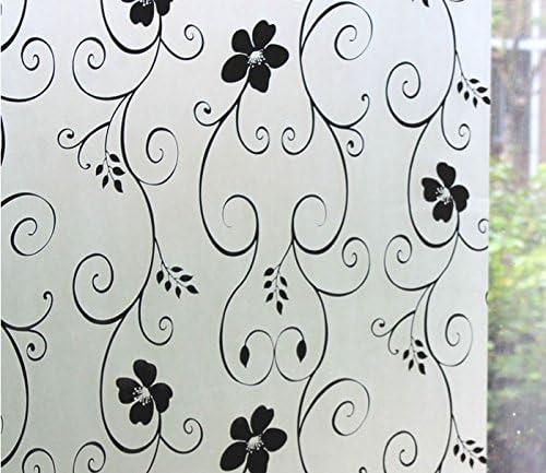 Reutilizable, helado ventana de vinilo decorativo estático (1 m x 90 ...