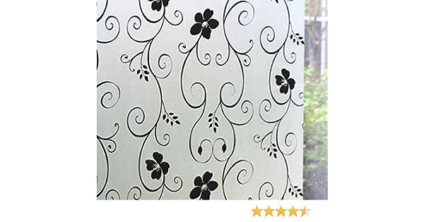 Reutilizable, helado ventana de vinilo decorativo estático (1 m x ...