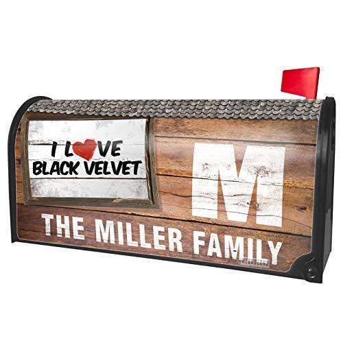 NEONBLOND Custom Mailbox Cover I Love Black Velvet - Velvet Cocktail