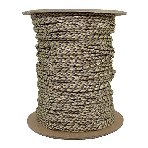 SGT KNOTS Spectra Cord (1.8mm) Speargun Line - Fishing Line - All-Purpose Utility Cord - for Tie-Downs, Gear Bundles, Boot Laces, Camping, Survival, Marine, More (100 Feet Coil - Desert Camo) by SGT KNOTS (Image #1)