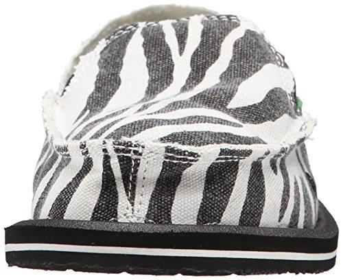 Game Sidewalk on nbsp;m Zebra Zebra Fucsia 6 US Slip Black Women' I' s Surfer Sanuk White m 8gTXIBwq