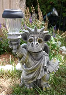 Garden Dragon with Solar Lamp Figure Gargoyle Ornament Amazonco