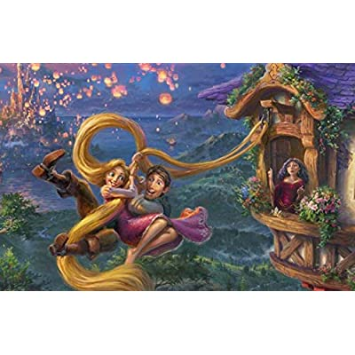 Ceaco Thomas Kinkade The Disney Collection Tangled Jigsaw Puzzle, 750 Pieces: Toys & Games
