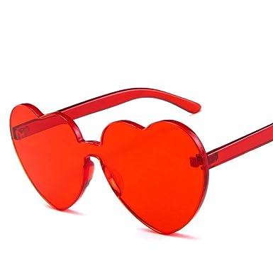 SUGLAUSES Gafas de sol Señora En Forma De Corazón Gafas De ...