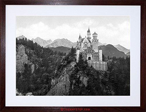 Germanys Neuschwanstein Castle - The Art Stop Vintage Photo Neuschwanstein Castle Bavaria Germany Framed Print F12X4256