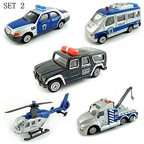 Amazon com: MoMoSo_Store| Mini Metal Alloy Blue Police Force
